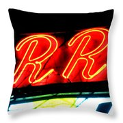 The R And R Throw Pillow
