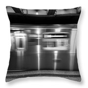 The R Train Nyc Subway Throw Pillow