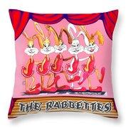 The Rabbettes Throw Pillow