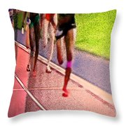 The Race By Jrr Throw Pillow