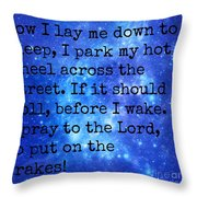 The Race Car Prayer Throw Pillow