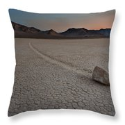 The Racetrack At Death Valley National Park Throw Pillow