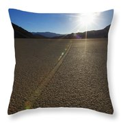 The Racetrack Throw Pillow