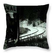 The Rail To Anywhere Throw Pillow