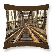 The Rails II Throw Pillow