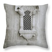 The Rajput Window Throw Pillow