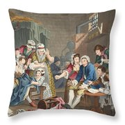The Rake In Prison, Plate Vii, From A Throw Pillow