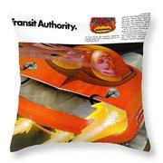 The Rapid Transit Authority Throw Pillow