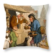 The Rat Trap Seller From Cries Throw Pillow