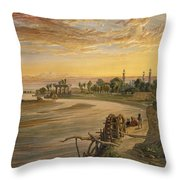The Ravee River, From India Ancient Throw Pillow