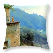 The Ravello Coastline Throw Pillow