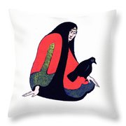 The Raven Ap/2 Throw Pillow