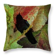 The Raven By Edgar Allan Poe  Throw Pillow