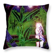 The Raven Of Never More  Throw Pillow