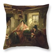 The Ray Of Sunlight, 1857 Oil On Canvas Throw Pillow