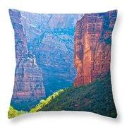 the rd through Zion Throw Pillow