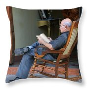 The Reader Throw Pillow