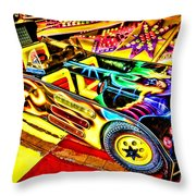 The Real Batmobile Throw Pillow by Olivier Le Queinec