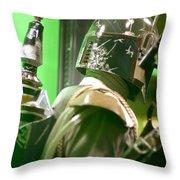 The Real Boba Fett 5 Throw Pillow by Micah May