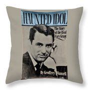 The Real Cary Grant Throw Pillow
