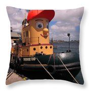 The Real Theodore Tug Boat Lives In Halifax Throw Pillow