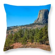 The Realm Of Devils Tower Throw Pillow