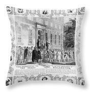 The Rebels Of 76 Throw Pillow
