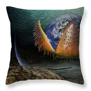 The Rebirth Of The Earth Throw Pillow
