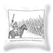 The Recent Unrest Throw Pillow