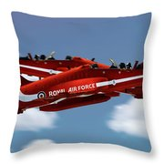 The Red Arrows Synchro Pair Throw Pillow