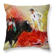 The Red Barrier Throw Pillow