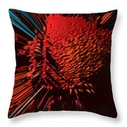 The Red Blob Of Courage Throw Pillow
