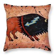 The Red  Buffalo Fresco Throw Pillow
