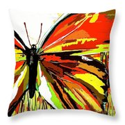 The Red Butterfly Throw Pillow