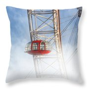 The Red Capsule Throw Pillow