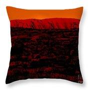 The Red Center D Throw Pillow