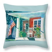 The Red Cottage Throw Pillow