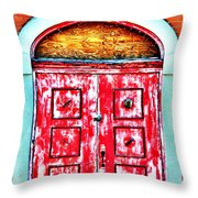 The Red Door Throw Pillow