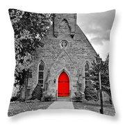The Red Door Monochrome Throw Pillow