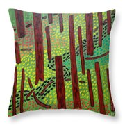 The Red Forrest Throw Pillow