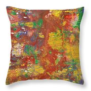 The Red Garden Path Throw Pillow