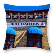 The Red Garter Throw Pillow