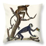 The Red Howler Monkey Throw Pillow