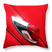 The Red Jag Throw Pillow