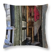 The Red Knit Throw Pillow