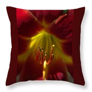 The Red Lily Throw Pillow