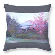 The Red Maple Tree Throw Pillow