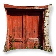 The Red Mill Door Throw Pillow