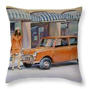 The Red Mini Throw Pillow