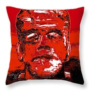 The Red Monster Throw Pillow